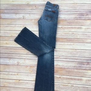 7 For All Mankind Bootcut Distressed Jeans Size 24